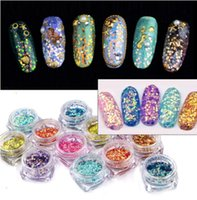 Wholesale 12 nail powder for sale - 0 g Fish Scale Nail Glitter Powder Colors Colorful Laser Sequins Powder DIY Nail Design Powder Decorations