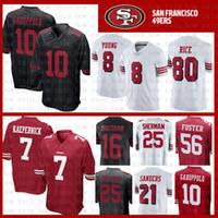 TOP SALE 10 Jimmy Garoppolo Jersey 7 Colin Kaepernick San Francisco 49er 56  Reuben Foster 16 Joe Montana 80 Jerry Rice Sherman Young Sanders bd73f849d