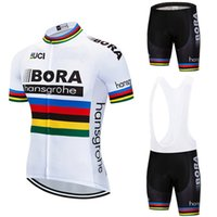 Wholesale 2018 Bike Team BORA hangsgrohe Cycling Sets Cycling Apparel Cycling Jersey Summer Outdoor Shirt Men