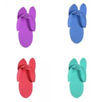 Wholesale disposable travel slippers - Disposable Slippers Special For Manicure Colourful Bathing Baboosh Travel Portable EVA Foam Salon Spa Babouche New Arrive 8hx C RW