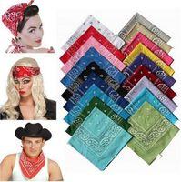 Wholesale hip hop wristbands - 20000pcs lot Novelty Paisley Design Bandana 100% Cotton Magic Anti-UV Headband Hip Hop Multifunctional Wristband Headscarf CCA8715 1lot