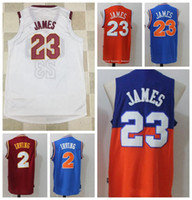 Wholesale red man sign - 2018 New CLE Basketball CAVS Jersey Men Women Youth ,Signed Retro Children,23 LBJ 9 WD 1 DR,Black Red USA Team