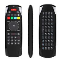 ordenador android para tv al por mayor-2.4Ghz RF Mini teclado inalámbrico G7 Smart Fly Air Mouse TV control remoto para Android TV Box proyector controlador de la computadora