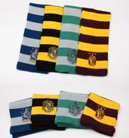 ingrosso sciarpa di hufflepuff-Harry Potter Sciarpa Grifondoro Scuola Sciarpe a righe Tassorosso Sciarpa Corvonero Serpeverde Sciarpa Cosplay sciarpa party