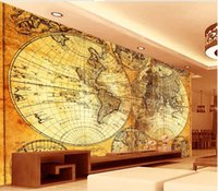 Wholesale map japan - wallpaper world map European world map TV background wall design wall papers home decor living room