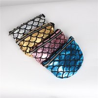 Wholesale dinner cups - Storage Bag New Pattern Zipper Pocket Maam Dinner Handbag Multifunction Mermaid Scale Customized 4 Colors Hot Sale 14jb V