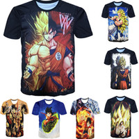 Wholesale Green White Dragon - 3D Men T Shirt Dragon Ball 16style Summer Women t shirts 2018 New Super Anime t shirt Goku Super Saiyan hip hop one piece Print short sleeve