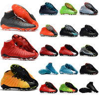 Wholesale Rose Spike - 2018 mens soccer cleats Hypervenom Phantom III EA Sports FG soccer shoes soft ground football boots cheap Rising Fast Pack neymar boots new