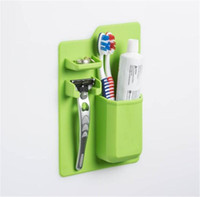 Wholesale toothbrush toothpaste case - 2018 NEW Silicone Toothbrush Holder Bathroom Toothbrush Rack Toothpick Sanitary Toiletries Shaver Organizer Toothpaste Storage Case