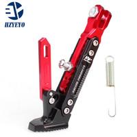 подставки для мотоциклов оптовых-HZYEYO Мотоцикл Поддержка боковой рамы Регулируемая высокая поддержка Модифицированная подставка для скутеров для мотоциклов Kickstand