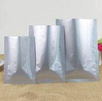 batteries de liaison achat en gros de-300pcs petit couvercle en aluminium feuille supérieure poudre poudre thé médecine batterie emballage sous vide sac étanche à l'huile sac alimentaire sous vide