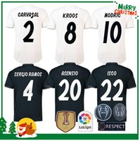 Wholesale ramos shirts - 2018 madrid Jersey Benzema ASENSIO football Soccer Modric Kroos Sergio Ramos Bale Marcelo 18 19 Champions League Real Madrid shirts