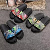 Wholesale women flat booties for sale - Men Women Slide Sandals Designer Shoes Luxury Slide Summer Fashion Wide Flat Slippery With Thick Sandals Slipper Flip Flops size
