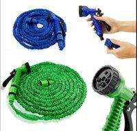Wholesale Green Rubber Hose - Garden hose 25FT 50FT 75FT 100FT Flexible Garden Water Hose With Spray Car Wash Pipe Water Hose Spray Nozzle Sprayers KKA3881