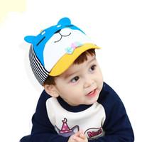 kore şapka bebek kız toptan satış-Güzel Güneşlik Bebek Şapkalar Bahar Ve Yaz Yumuşak Pamuk Nefes Güney Kore Güneş Şapka Yeni Bebek Kız Ve Erkek Için Toptan Caps