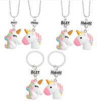 Wholesale Charms For Cellphones - Hot sale Unicorn Keychain Keyring Cellphone Charms Handbag Pendant Kids Gift Toys Phone Decoration Accessory Horse Key Ring wholesale YSK 00