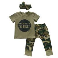 baba tişört toptan satış-2018 Yenidoğan Bebek Kız Giysileri Set babasının Kız / Erkek Üstleri T-Shirt + Pantolon Sevimli Kıyafetler Set Giyim Rahat Bebek Çocuğun Moda