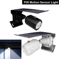 Wholesale emergency lighting spotlights resale online - 500lm Led Solar Light Outdoor Waterproof LED Street Light PIR Motion Sensor Light Garden Emergency Lamp Security Spotlight
