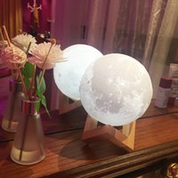 Wholesale magical balls for sale - 3D LED Night Magical Moon LED Light Moonlight Desk Lamp USB Rechargeable D Light for Home Decoration Christmas lights warm cool Table lamp