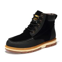 botas de invierno para hombres al por mayor-utumn Hombres de invierno Botas de gran tamaño 40-48 Hombres de estilo vintage Zapatos de moda casual de corte alto cordones Hombre