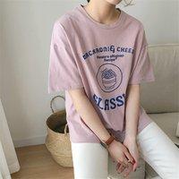 Wholesale Kpop Sale - Kpop Harajuku 2018 Summer New Fashion Vintage Character Printed Casual Loose Short Sleeve Classic Female T-shirts Hot Sale