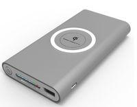 аккумуляторный блок питания сотовый телефон оптовых-цельный 8000mAh Power Bank Беспроводное зарядное устройство для мобильного телефона для iPhone Samsung S8 универсальный беспроводной внешний аккумулятор Powerbank