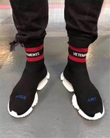 Wholesale Black Half Socks - VETEMENTS SS CREW UNISES Sock Trainer Dropping RUNNING Shoes CN3307 Socks Trainer Boots Winter luxury Short Boost Stretch Sneaker Boosts