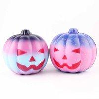 Wholesale toy pumpkins - Squishy Rainbow Pumpkin 4.3 inch Slow Raising Colorful Bun Soft Squeeze Bread Cake Fun Kid Toy Gift