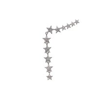 Wholesale christmas earrings for sale - 2018 Christmas gift luxury star charm earring dangle dazzling star link star charm Gorgeous Chic european USA women CZ earring