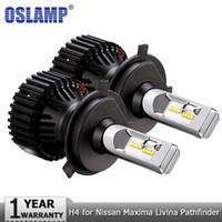 Wholesale nissan maxima car - Oslamp H4 Hi lo Beam Car LED Headlight Bulbs ZES 60W 8000LM Auto Headlamp Fog Light Bulb 12v for Nissan Maxima Livina Pathfinder