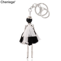 Wholesale keyring guns resale online - chenlege fashion key chains charms tassel keychain bag pendant alloy women key ring lady handmade holder keyring accessory