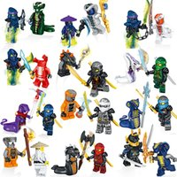 Wholesale toy bricks for children for sale - 24pcs Ninjago Building Block Classic Action figures toys for Children gifts DIY compatible with Legos bricks Toys
