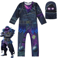 Wholesale kids party clowns online - Kids Ninjago Skull Trooper Skin Decoration Boys Character Clown Cosplay Clothes Halloween Costumes Ninja Party Funny Clothing