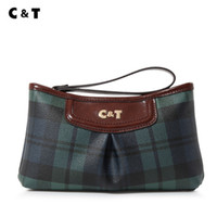 Wholesale coatings mobile for sale - Group buy Old cobbler C T brand Top quality manual quality Small Tote Coated canvas fashion latticed pattern bag Mobile phone bags