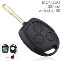 Wholesale Transmitter Chip - 433Hz 315Hz 3 Buttons Replacement Remote Car Key Fob Transmitter Clicker Alarm with Chip 60 for Ford MONDEO Fiesta Focus CIA_420