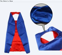 Wholesale flash double - halloween party spiderman batman flash robin ironman double layer superhero cape costumes cosplay superhero superman capes and mask for kids