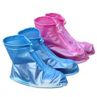 Wholesale children slip resistant shoes for sale - 85pcs Reusable Rain Shoes Cover Women men kids Children Thicken Waterproof Boots Cycle Rain Flat Slip resistant Overshoes