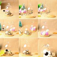 ingrosso miniature-Vetrino copri-vetro trasparente Vasto Mini Miniature Paesaggio Home Office Garden Copertura in vetro Decorazione Accessori spedizione gratuita