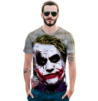 Wholesale Funny Spoof - New Style Spoof Clown 3D Printed Short Sleeved T-shirt Brand Men's Funny T-shirt
