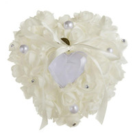 joyero corazon blanco al por mayor-Romántico, elegante, rosa, caja de anillo, caja de joyas, accesorios de boda (blanco)