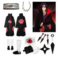 Wholesale naruto itachi cosplay full resale online - Anime Naruto Uchiha Itachi Cosplay Costume Full Set