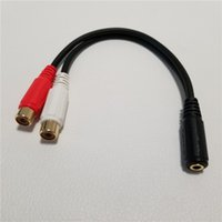 3.5mm Audio Jack Female to 2 RCA Female F F Aux Adapter Converter Short Splitter Cable