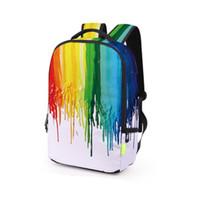 mochilas de galaxias de mujer al por mayor-Hombres Mujeres Graffiti Mochila 3D Galaxy Travel Satchel Mochila Bagpack Students School Bag Bookbag envío gratis