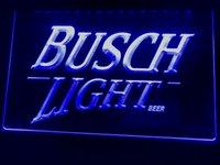 enseignes de bière au néon busch light achat en gros de-A088b- Busch Lite Bière Vintage Club Bar LED Neon Light Sign