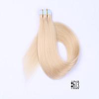 ingrosso migliori estensioni dei capelli dritti-Le estensioni di capelli bionde seriche dei capelli della cinghia di trama delle trame di seta regolano i capelli umani cambogiani La migliore vendita FDSHINE