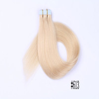 Wholesale best tape human hair online - Silky Straight Hair Blonde Skin Wefts PU Tape Hair Extensions Cambodian Human Hair Best Selling FDSHINE