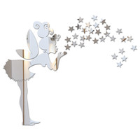 wandkunstaufkleber für treppen groihandel-Neue sonderangebot 2017 heißer verkauf spiegel kombination wandaufkleber wohnkultur für kinderzimmer dekoration diy 3d kunst kostenloser versand