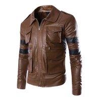 New Mens Genuine Lambskin Leather Slim Fit Biker Motorcycle Jacket for Men P027