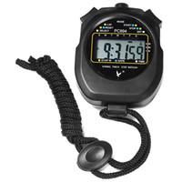 temporizador de funcionamiento al por mayor-RUNACC Cronómetro deportivo digital Cronómetro portátil Cronómetro deportivo multifuncional con pantalla numérica grande