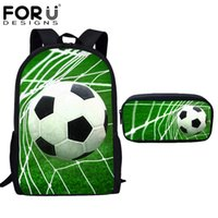 3b3be4048771 FORUDESIGNS School Bags for Teenager Girls Boys 3D Foot Baller Printing Children  Cool School Bag Primary Girls Schoolbag